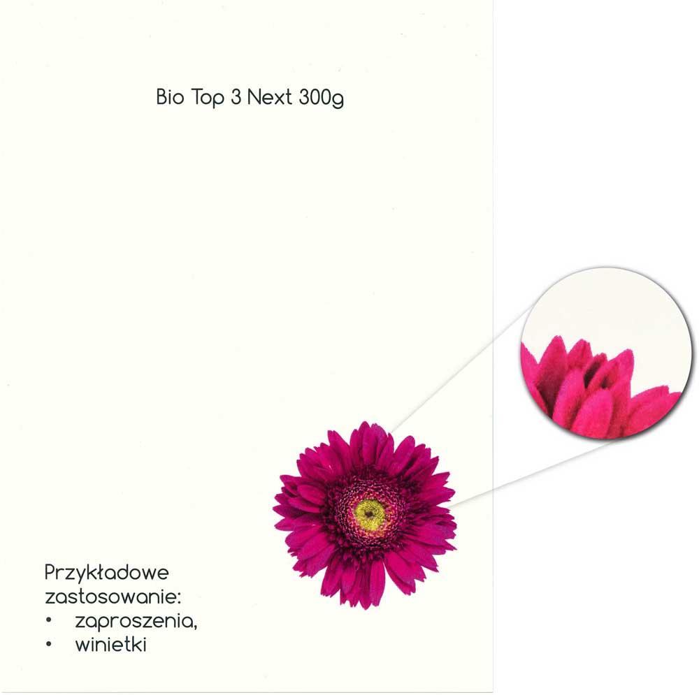 drukarnia online wzornik papieru do zaproszeń Bio Top 3 Next 300g